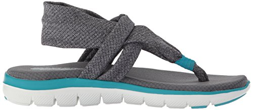 0 Grau 2 Studio Time Sandalette Damen 39073 Skechers GRY Appeal Flex tvqBWngU