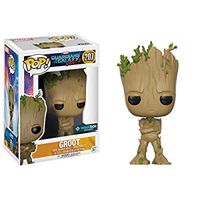 Funko Pop! Movies: Guardians of The Galaxy Vol. 2 - Adolescent Groot  Exclusive Action Figure: Toys & Games