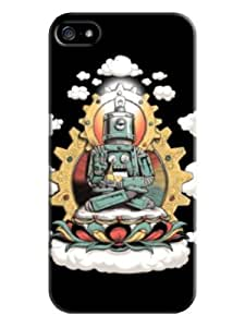 Sangu Steel Buddha Hard Back Shell Case / Cover for Iphone 5 and 5s - Black