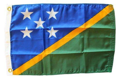 - Solomon Islands - 12 in x 18 in Nylon World Flag