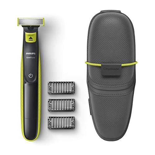 chollos oferta descuentos barato Philips OneBlade QP2520 65 Recortador de Barba con 3 peines y funda de viaje
