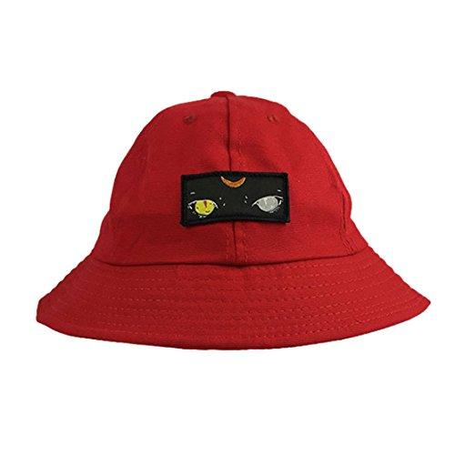Yeux Femme Coton De Pour Homme Pêcheur Chapeau Bob Motif Rouge Soleil Acvip fIqRw