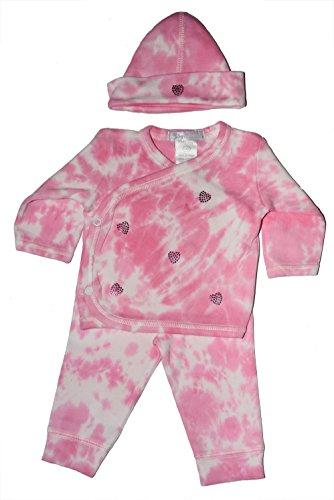 (Baby Girl 3 Piece Tie-Dye Take Me Home Fuchsia Rhinestone)