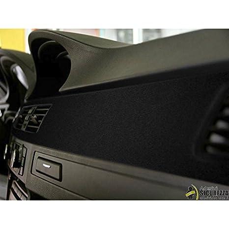 StickersLab - Nastro pellicola adesiva in velluto nero wrapping per tuning decorazione (25mm x 2 Metri)
