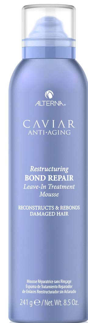Alterna Caviar Anti-Aging Restructuring Bond Repair Leave-in Treatment Mousse, 8.5 Fl Oz | Strengthens & Protects Damaged Hair