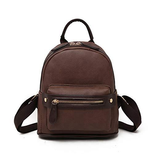 52518e04a9 Bagpack Backpacks UKCNSMXJD Mini Zipper Back Ladies Female Cute Pack Leather  Brown Designer For Pu Small .