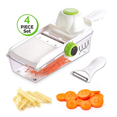 Elle Gourmet Mandoline Slicer Sets - Multiple Pieces & Parts Included for Slicing, Chopping and Peeling