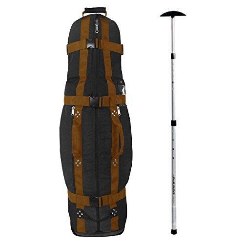 Club Glove Last Bag Collegiate Golf Travel Cover w/ Free Stiff Arm (Black/Copper)