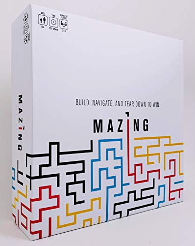 Mazing Strategy Board Game for Kids and Adults - Easy to Learn and Play ()