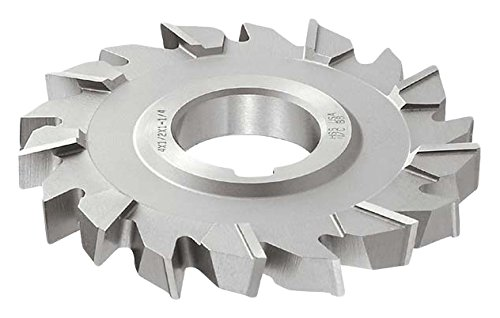 5//16 Width 2-3//4 Cutting Diameter KEO Milling 10651 Staggered Tooth Woodruff Key Seat Milling Cutter,WK Style 16 Teeth 1 Arbor Hole Standard Cut TiN Coating HSS