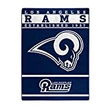 The Northwest Company Officially Licensed NFL Los Angeles Rams 12th Man Plush Raschel Throw Blanket, 60″ x 80″, Multi Color