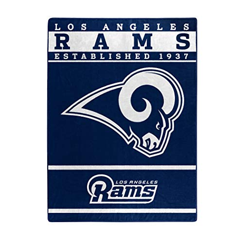 (The Northwest Company Officially Licensed NFL St. Louis Rams 12th Man Plush Raschel Throw Blanket, 60
