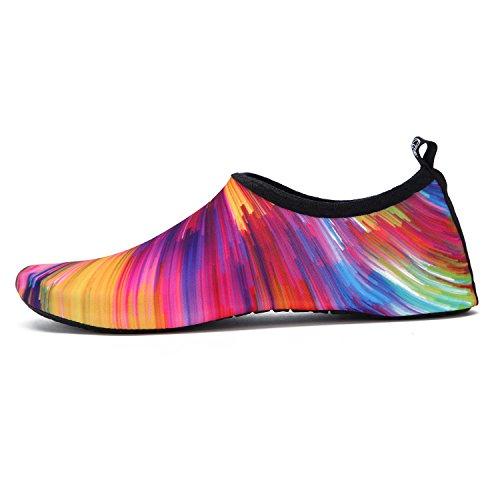 Wxdz Donna Uomo Acqua Scarpe Quick-dry A Piedi Nudi Calze Aqua Per Nuotare Spiaggia Surf Piscina Yoga Colorato-arancio