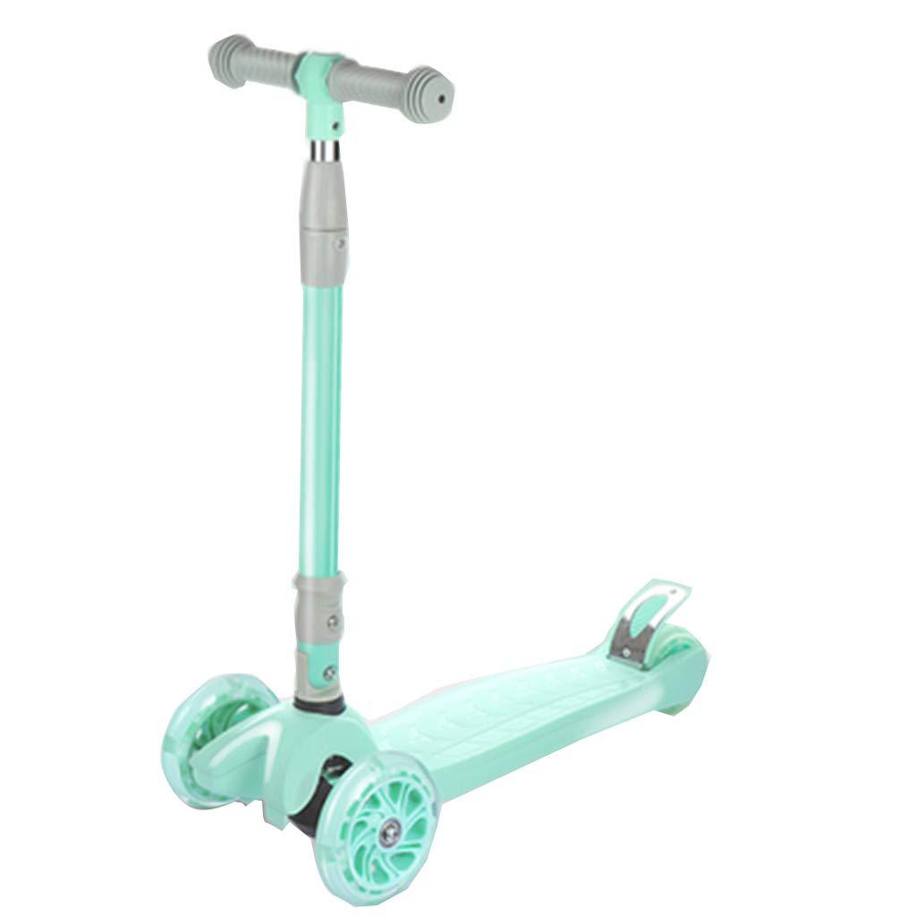 4つの車輪のスクーター滑り止めの手すりに操縦するために傾く滑りやすい折りたたみスクーター子供スクーター簡単に任意のスキルレベルの子供のための完全な子供向けの2+調整可能な高さ操縦するために傾く B07QZWG6XH A A