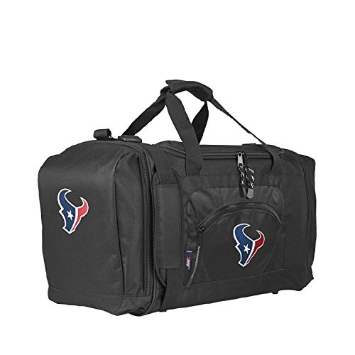 Shoe Houston Texans - The Northwest Company Officially Licensed NFL Houston Texans Unisex Roadblock Duffel Bag, Black