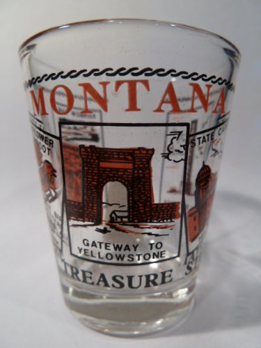 Shot Montana Glass (Montana Scenery Red Shot Glass)