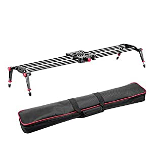 "Neewer® 39""/1m Carbon Fiber Camera Track Dolly Slider Rail System with 17.5lbs/8kg Load Capacity for Stabilizing Photograph Movie Film Video Making DSLR Camera Nikon Canon Pentax Sony"
