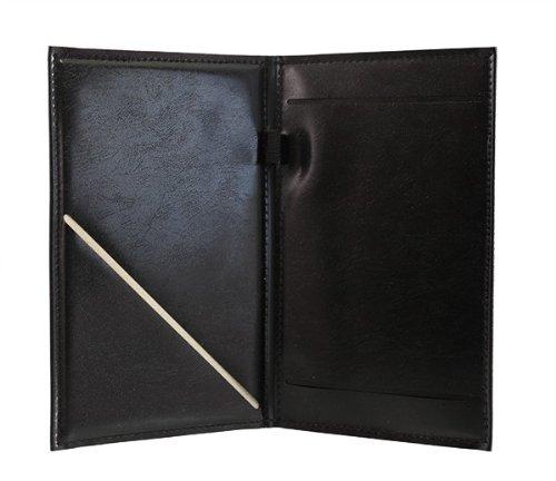 BarConic Black Vinyl Guest Check Order Holder with Pen Loop