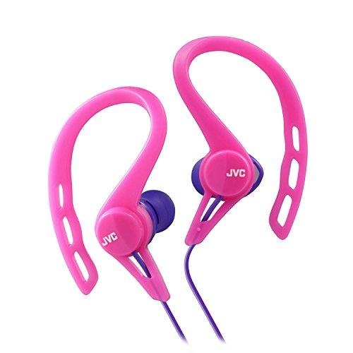 JVC HAECX20P Sports Clip Inner Ear Headphones, Pink Inner Ear Clip Headphone