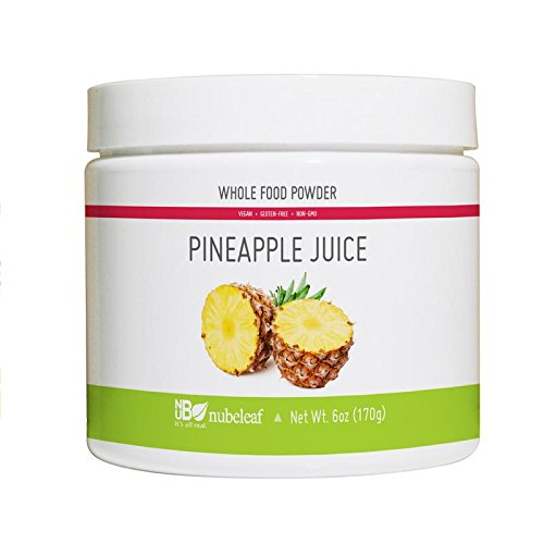 Nubeleaf Pineapple Juice Powder - Non-GMO, Gluten-Free, Raw, Vegan Source of Essential Vitamins & Minerals - Single-Ingredient Nutrient Rich Superfood for Cooking, Baking, Smoothies (6oz)