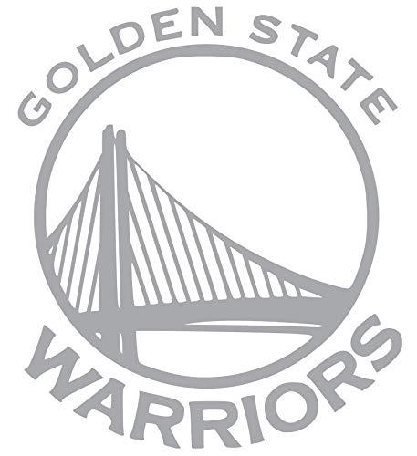 Golden State Warrior Vinyl Sticker Decals for Car Bumper Window MacBook Laptop [Silver, 4