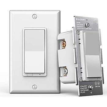 Z Wave Plus Smart Dimmer Light Switch 3 Way Built In Z