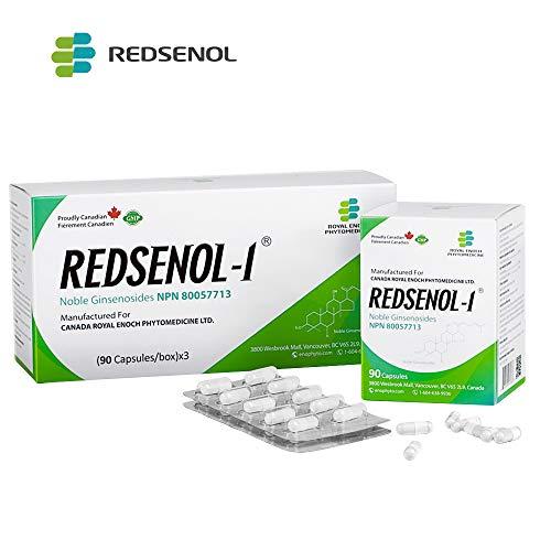 Redsenol - Contain 16 Rare Ginsenosides: Rk2 Rg5 Rh2 Rk1 Rk3 - Panax Ginseng Extract, 20% Rare Ginsenosides - 3 Boxes x 90 Capsules