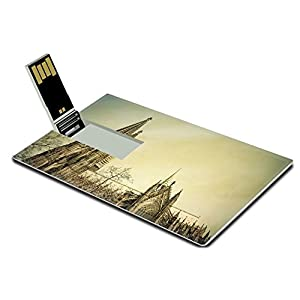 Luxlady 32GB USB Flash Drive 2.0 Memory Stick Credit Card Size Vintage Gothic Cathedral in Cologne Germany IMAGE 28468765