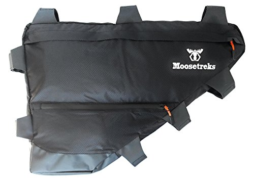 Moosetreks Bicycle Full Frame Pack | Bikepacking, Bike Touring, Commuting Full Frame Bag | Extremely Water Resistant | Medium (12L) ()