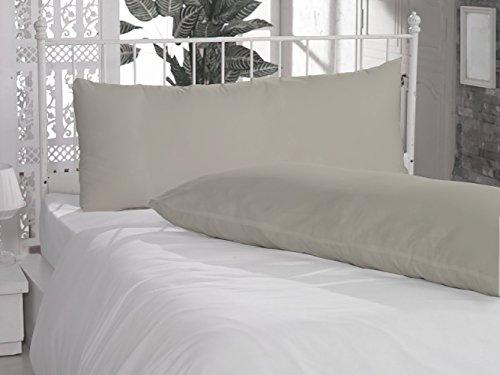 400 Thread Count 2 Piece Body Pillow Cases 100% Pima Cotton