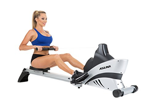 ASUNA 4500 Commercial Folding Rowing Machine Rower w/ Heart Rate Monitor by Sunny Health & Fitness