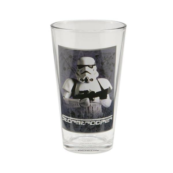 Vandor 99179 Star Wars 4 pc 16 oz Glass Set, Multicolor
