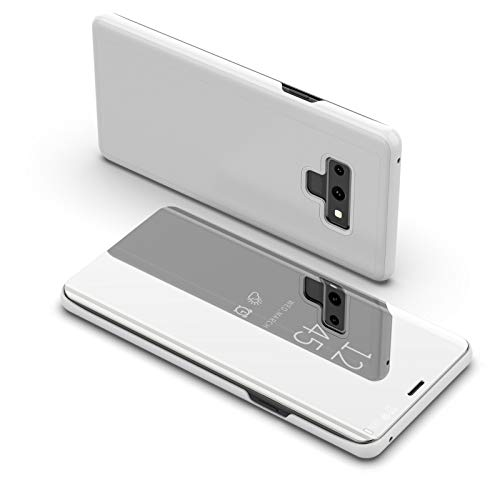 Price comparison product image Galaxy Note 9 Case,  Buybuybuy Luxury Smart Sleep Wake UP Flip Leather Stand Holder Case Cover for Samsung Galaxy NOTE 9 (Silver)