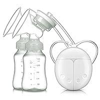 Baabyoo Breast Pump Electric Double Breastpumps Safe Milk Storage Bottle Dual...