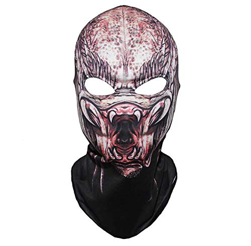 3DThe Predator Mask Balaclava Scary Masks Beast Air Soft Outdoor Biker Riding Full Face Superhero Movie Cosplay Costume Party Props ()