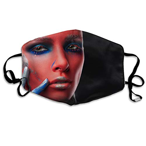 Model Makeup Face Paint Face Green Eyes Fashion Dust Mask Anti-dust Polyester Mouth Face Masks Mouth Cover
