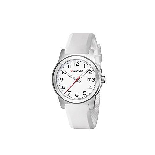 Wenger Reloj Analogico para Mujer de Cuarzo con Correa en Silicona 01.0441.147: Amazon.es: Relojes