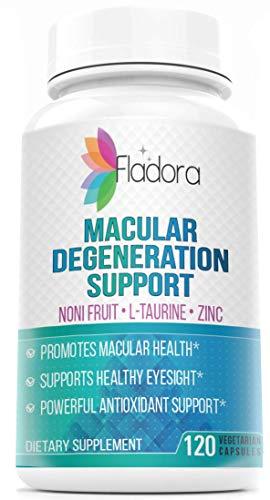 Fladora Macular Degeneration Support Supplements - Supports Healthy Eyesight, Macular Health, Antioxidant - 120 Vegetarian Capsules
