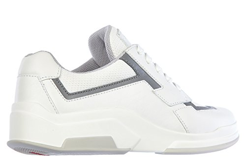 Prada scarpe sneakers donna in pelle nuove plume bike bianco EU 37.5 3E5964_3ORM_F0009