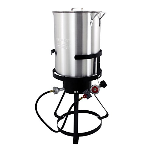 Chard TFP30A Aluminum Turkey Fryer Pack, 30 Quart Deep Fat Turkey Fryer
