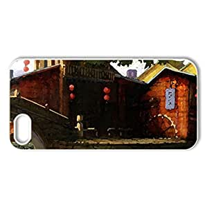 Martial Empires - Case Cover for iPhone 5 and 5S (Houses Series, Watercolor style, White)