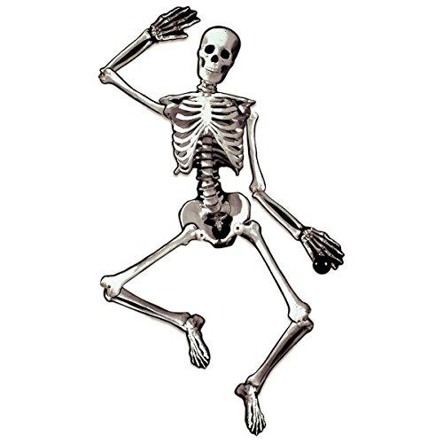 Eerie Boneyard Halloween Party Jointed Skeleton Cutout Decoration, Cardboard, (Paper Halloween Decorations)