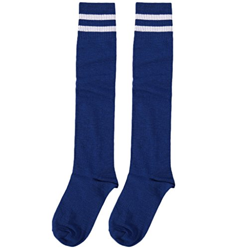 PoityA Children Professional Soccer Socks Pure Color Knee-High Towel Football Socks - 7#