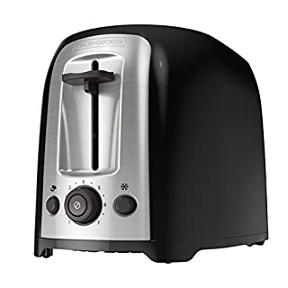 BLACK+DECKER 2-Slice Extra Wide Slot Toaster, Classic Oval, Black with Stainless Steel Accents, TR1278B (B008YS1ZAO) | Amazon Products