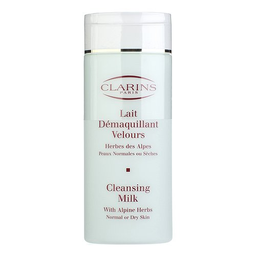 (Clarins Cleansing Milk with Alpine Herbs for Normal or Dry Skin, 6.9 Ounce)