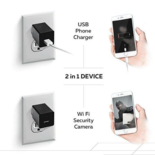 Wifi Hidden Spy Camera,1080P HD Mini USB Wall Charger Nanny Cam,With Motion  Detection,Support IOS,Android,iPhone App Remote Video Viewing For Home