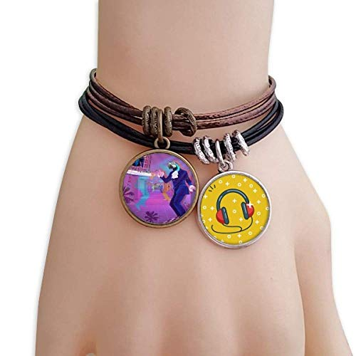 DIYthinker Dance DJ Fantasy Design Bracelet Rope Headset Earphone Music Wristband