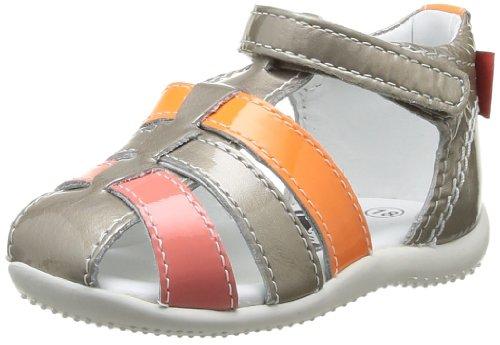 Kickers Bigflo - Sandalias de vestir para niñas Beige Métal Rose Orange