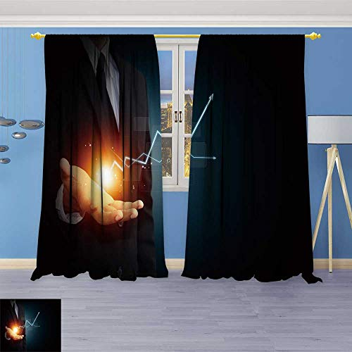 (SOCOMIMI Alta Pine Forest Design Collection,Hand a RIS Arrow Represent Growth,Living Kids Girls Room Curtain, 72W x 72L inch)