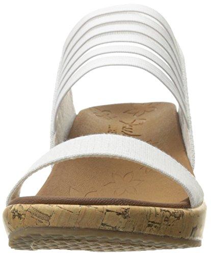 Skechers Cali Womens Beverlee Smitten Kitten Zeppa Sandalo Off-white Sughero